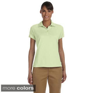 Women's Solid Performance Plus Jersey Polo|https://ak1.ostkcdn.com/images/products/9032409/Womens-Solid-Performance-Plus-Jersey-Polo-P16231808.jpg?impolicy=medium