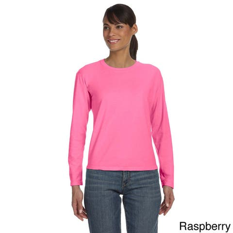 Women's Ringspun Garment-dyed Long Sleeve T-shirt