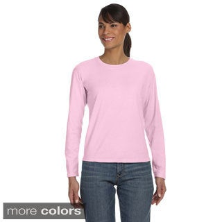 Women's Ringspun Garment-dyed Long Sleeve T-shirt