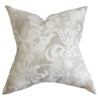 Ashira Floral Down Filled Throw Pillow Neutral
