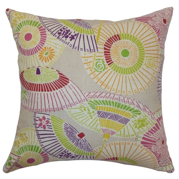 Ayesa Umbrella Down Filled Throw Pillow Confetti