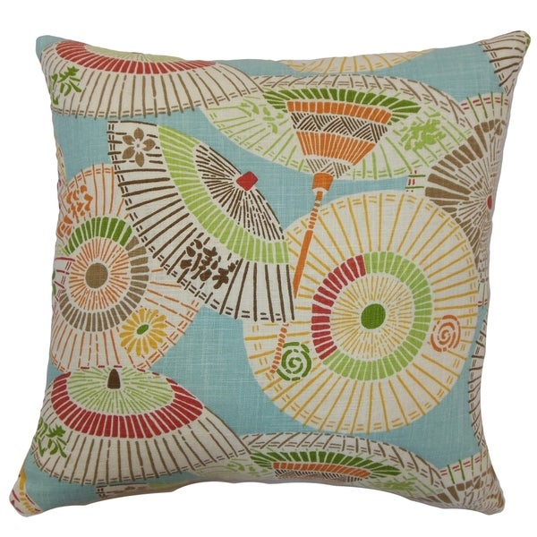 Ayesa Umbrella Down Filled Throw Pillow Multi