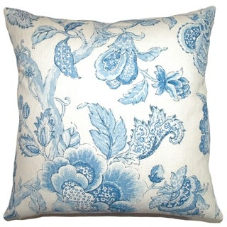 Yette Toile Down Filled Throw Pillow Porcelain