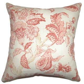 Yette Toile Down Filled Throw Pillow Shrimp