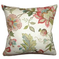 Adele Crewels Down Filled Throw Pillow Multi