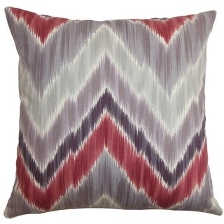 Caltha Zigzag Down Fill Throw Pillow Gray Red