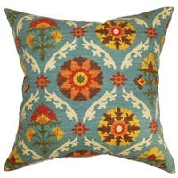 Kachine Floral Down Fill Throw Pillow Autumn