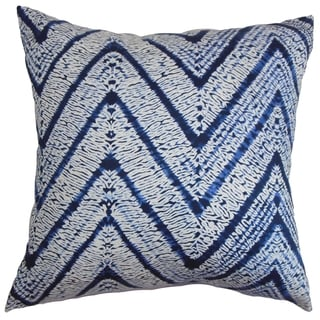 Destry Zigzag Down Fill Throw Pillow Blue