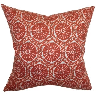 Cniva Floral Down Fill Throw Pillow Cayenne