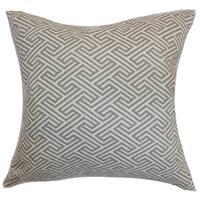 Graz Geometric Down Fill Throw Pillow Dove