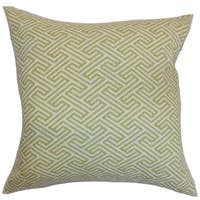 Graz Geometric Down Fill Throw Pillow Spring Green