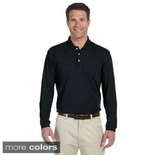 Men's Easy Blend Long Sleeve Polo Shirt|https://ak1.ostkcdn.com/images/products/9032497/Mens-Easy-Blend-Long-Sleeve-Polo-Shirt-P16231872.jpg?impolicy=medium