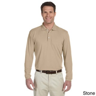 Men's Easy Blend Long Sleeve Polo Shirt (More options available)