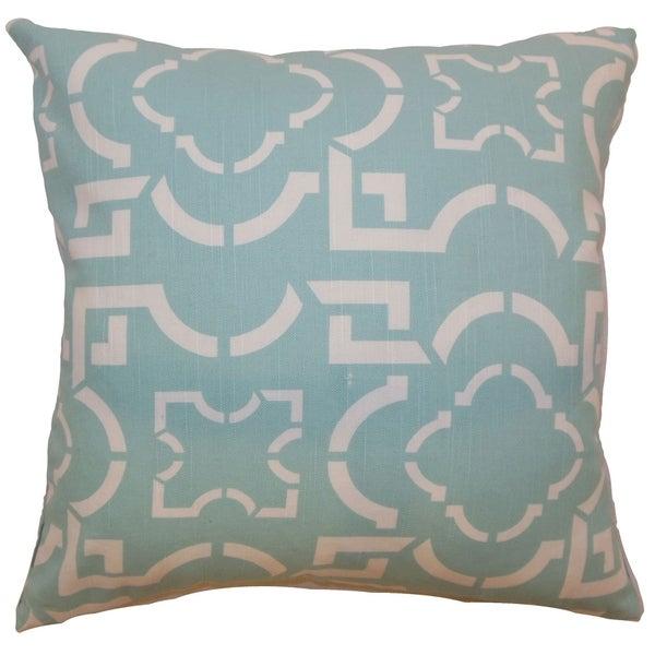 Akure Geometric Down Filled Throw Pillow Robin
