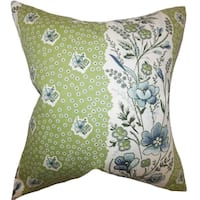 Elske Floral Down Filled ThrowPillow Cactus Green