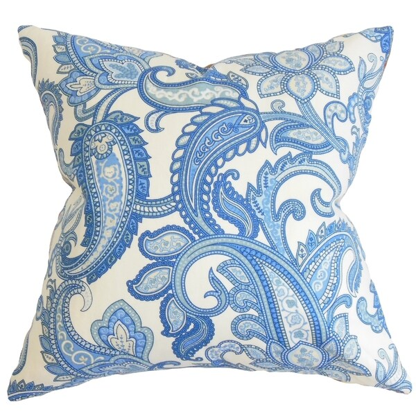 Blue Down Throw Pillows : Galila Floral Down Filled Throw Pillow Blue - Free Shipping Today - Overstock.com - 16232038