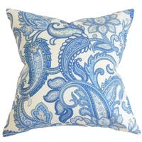 Galila Floral Down Filled Throw Pillow Blue