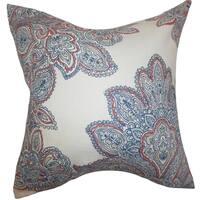 Haldis Floral Down Filled Throw Pillow Blue