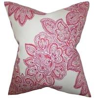 Haldis Floral Down Filled Throw Pillow Rose