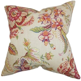 Eluned Floral Down Filled Throw Pillow Multi