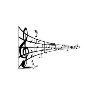 Music Notes Vinyl Wall Art