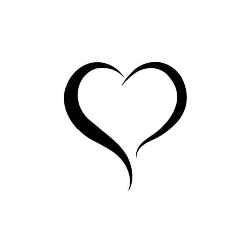 Two Lines Heart Vinyl Wall Art