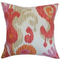 Xinguara Ikat Feather and Down Filled Throw Pillow Fruity