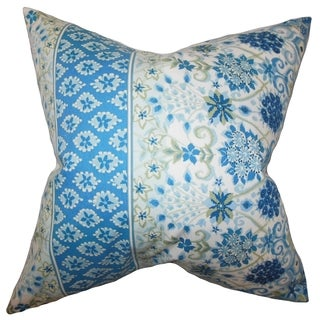 Kairi Floral Feather and Down Filled Throw Pillow Lapis