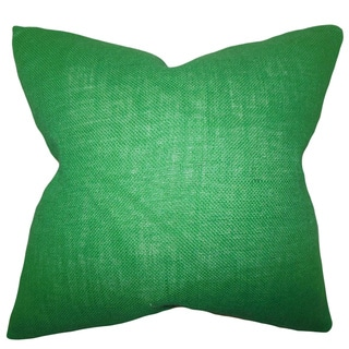 Ellery Green Solid Feather and Down Filled Throw Pillow