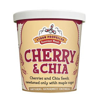 Straw Propeller Cherry & Chia Oatmeal (Case of 12)