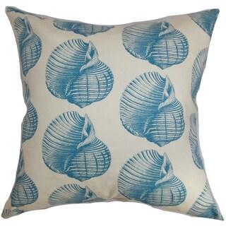 Bahari Aquatic Aqua Down Filled Throw Pillow
