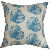 Bahari Aquatic Aqua Down Filled Throw Pillow