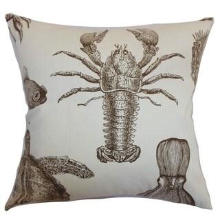 Ilaka Aquatic Lobster Down Filled Throw Pillow