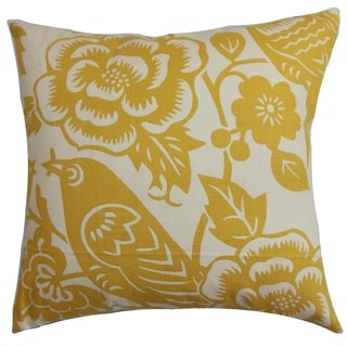 Campeche Yellow Floral Down Filled Throw Pillow