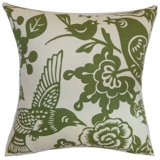 Campeche Moss Floral Down Filled Throw Pillow