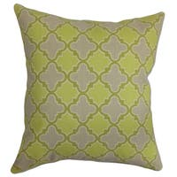 Erasma Green Geometric Down Filled Throw Pillow