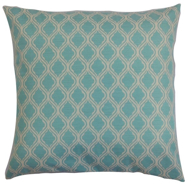 Blue Down Throw Pillows : Panyin Blue Geometric Down Filled Throw Pillow - Free Shipping Today - Overstock.com - 16232278