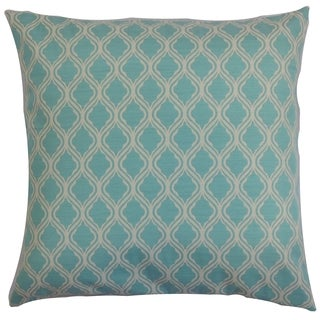 Panyin Blue Geometric Down Filled Throw Pillow