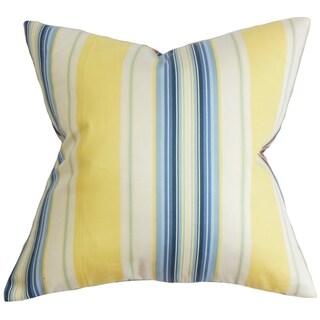Douce Stripe Down Fill Throw Pillow Blue Yellow