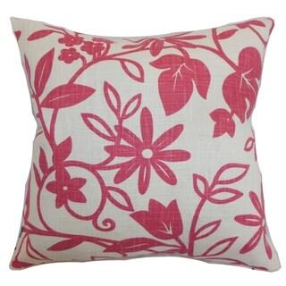 Gambela Floral Down Fill Throw Pillow Rose