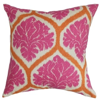 Priya Floral Down Fill Throw Pillow Pink