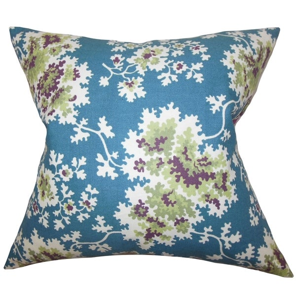 Blue Down Throw Pillows : Danique Floral Down Fill Throw Pillow Blue - Free Shipping Today - Overstock.com - 16232196