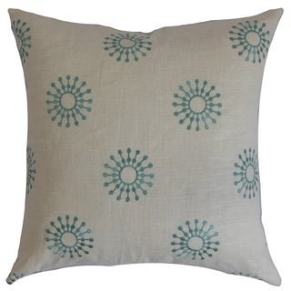 Irece Floral Down Fill Throw Pillow Aqua