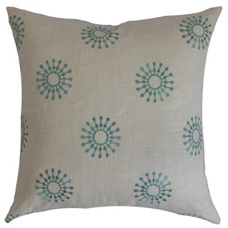 Irece Floral Down Fill Throw Pillow Aqua