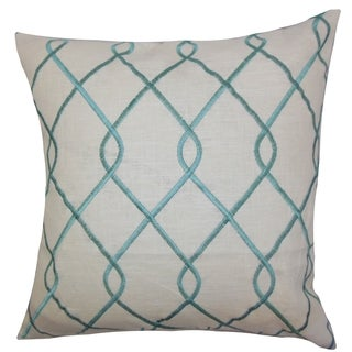 Jolo Geometric Down Fill Throw Pillow Aqua Blue
