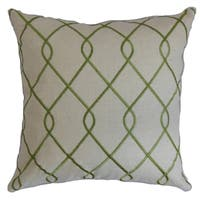 Jolo Geometric Down Fill Throw Pillow Green