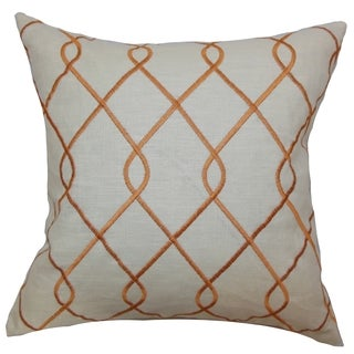 Jolo Geometric Down Fill Throw Pillow Papaya
