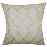 Jolo Geometric Down Fill Throw Pillow Yellow