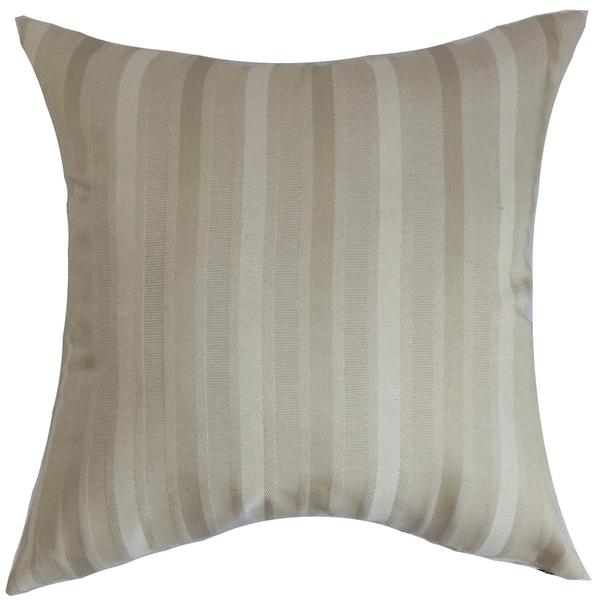 Giroflee Stripes Down Fill Throw Pillow Linen