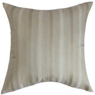 Giroflee Stripes Down Fill Throw Pillow Linen